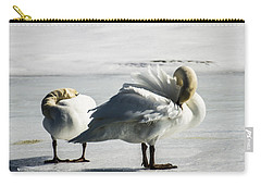 Swans On Ice Carry-all Pouch
