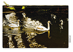 Swans On River Wey Carry-all Pouch