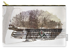 Carry-all Pouch featuring the photograph Swansea Dam At Christmas by Robin-Lee Vieira