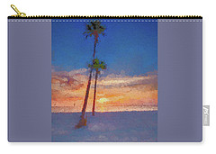 Carry-all Pouch featuring the photograph Swaying Palms by Marvin Spates