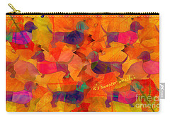 Carry-all Pouch featuring the digital art Sweater Weather 2017 by Kathryn Strick