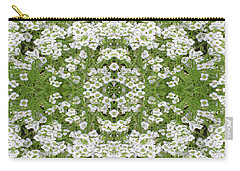 Sweet Alyssum Abstract Carry-all Pouch