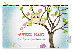 Sweet Baby - Owl Love You Forever Nursery Carry-all Pouch by Audrey Jeanne Roberts