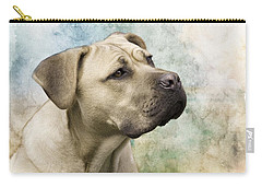Sweet Cane Corso, Italian Mastiff Dog Portrait Carry-all Pouch