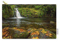 Carry-all Pouch featuring the photograph Sweet Creek Falls In Autumn by Patricia Davidson