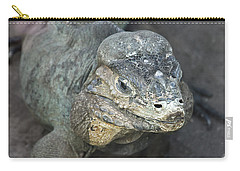 Carry-all Pouch featuring the photograph Sweet Face Of Rhinoceros Iguana by Miroslava Jurcik