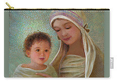 Carry-all Pouch featuring the painting Sweet Grace Madonna And Child by Nancy Lee Moran