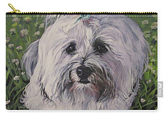 Carry-all Pouch featuring the painting Sweet Havanese Dog by Lee Ann Shepard