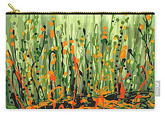 Carry-all Pouch featuring the painting Sweet Jammin' Peas by Holly Carmichael