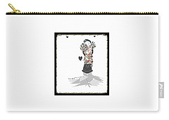 Carry-all Pouch featuring the mixed media Sweet Lady 7 by Ann Calvo