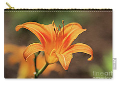 Sweet Lilly In Orange Carry-all Pouch
