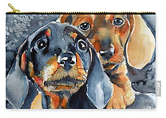 Sweet Little Dogs Carry-all Pouch by Kovacs Anna Brigitta