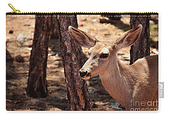Carry-all Pouch featuring the photograph Sweet Little Mule Deer by Debby Pueschel