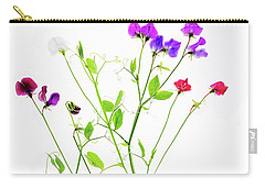 Carry-all Pouch featuring the photograph Sweet Peas by Rebecca Cozart