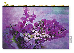Carry-all Pouch featuring the photograph Sweet Purple Bouquet by Karo Evans