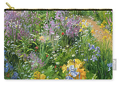 Sweet Rocket - Foxgloves And Irises Carry-all Pouch