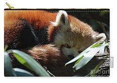 Sweet Sleeping Red Panda Bear Carry-all Pouch by DejaVu Designs