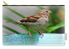 Carry-all Pouch featuring the photograph Sweet Sparrow by Barbara S Nickerson