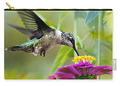 Sweet Success Hummingbird Square Carry-all Pouch by Christina Rollo