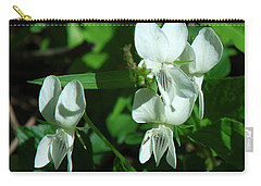 Carry-all Pouch featuring the photograph Sweet White Violets Dspf0405 by Gerry Gantt