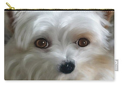 Sweet Yorkie Carry-all Pouch by Mary Timman