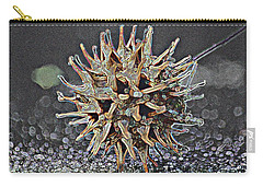 Carry-all Pouch featuring the photograph Sweetgum Ball by Donna G Smith