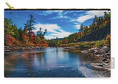 Carry-all Pouch featuring the photograph Swift River Swirls by Chris Lord