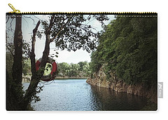 Carry-all Pouch featuring the photograph Swimming At The Quarry by Karen Stahlros