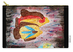 Carry-all Pouch featuring the painting Swimming By by Thomasina Durkay