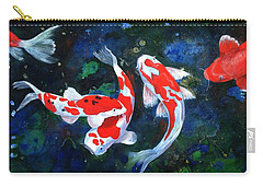 Swimming In Peace Carry-all Pouch by T Fry-Green