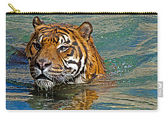Swimming Tiger Carry-all Pouch