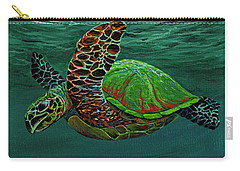 Carry-all Pouch featuring the painting Swimming With Aloha by Darice Machel McGuire