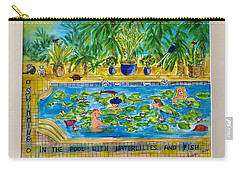 Swimming With Waterlilies And Fish Carry-all Pouch