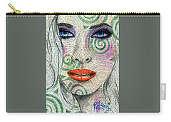 Swirl Girl Carry-all Pouch by P J Lewis