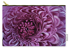 Carry-all Pouch featuring the photograph Purple Mum Abstract by Glenn Gordon
