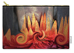 Carry-all Pouch featuring the digital art Swirling World In Space by Linda Sannuti