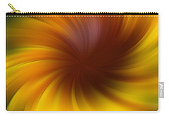 Swirling Yellow And Brown Carry-all Pouch