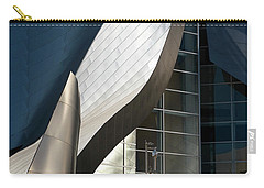 Carry-all Pouch featuring the photograph Swoops And Lines Of Disney Hall by Lorraine Devon Wilke