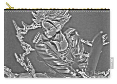 Carry-all Pouch featuring the digital art Sword Rush Trunks by Ray Shiu