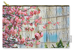 Swords Into Plowshares - Spring Flowers Carry-all Pouch by Miriam Danar