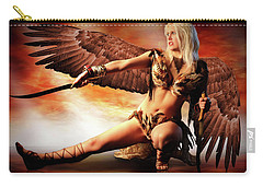 Swords Of The Hawk Woman Carry-all Pouch