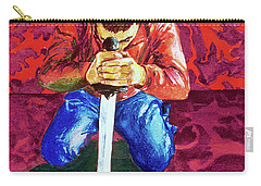 Carry-all Pouch featuring the painting Swords On The Playground by Rene Capone