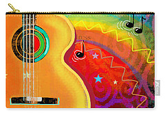 Sxsw Musical Guitar Fantasy Painting Print Carry-all Pouch
