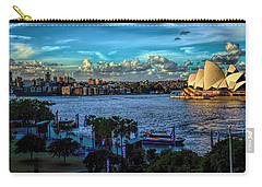 Sydney Harbor And Opera House Carry-all Pouch by Diana Mary Sharpton