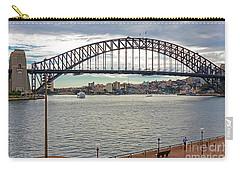 Carry-all Pouch featuring the photograph Sydney Harbour Bridge by Elaine Teague