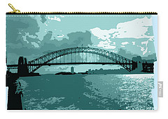 Sydney Harbour Fantasy In Blue Carry-all Pouch