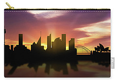 Sydney Skyline Sunset Ausy22 Carry-all Pouch by Aged Pixel