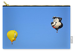 Carry-all Pouch featuring the photograph Sylvester And Tweety by AJ Schibig