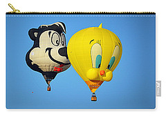 Carry-all Pouch featuring the photograph Sylvester And Tweety Balloons by AJ Schibig