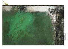 Symbol Mask Painting - 03 Carry-all Pouch by Behzad Sohrabi